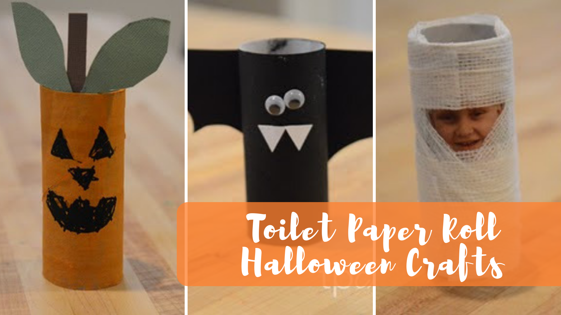 halloween toilet paper crafts - the beckham project