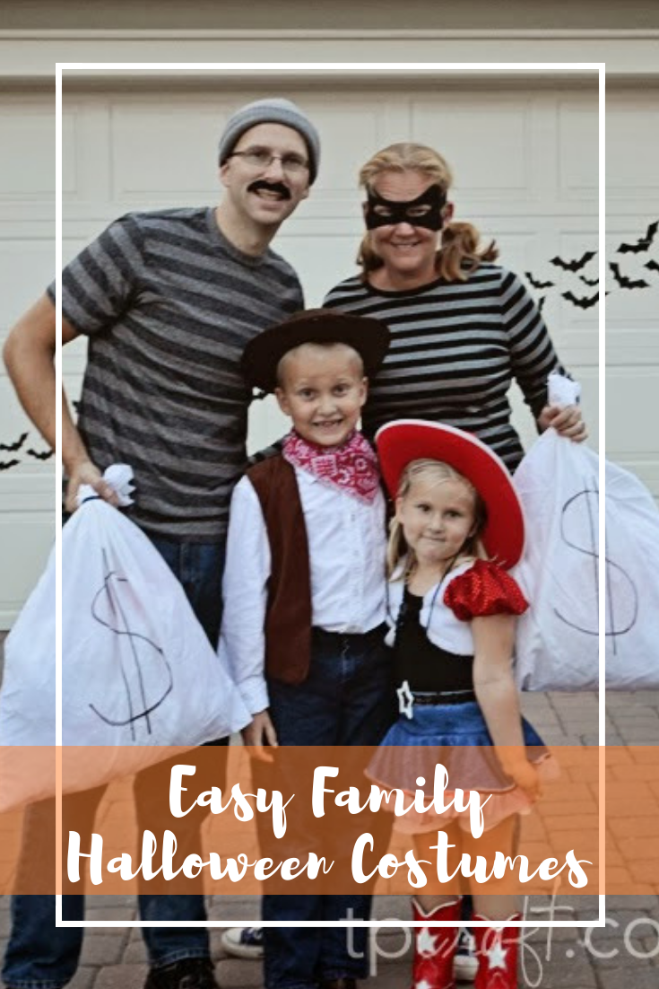 Easy Family Cowboy and Cowgirl Halloween Costume