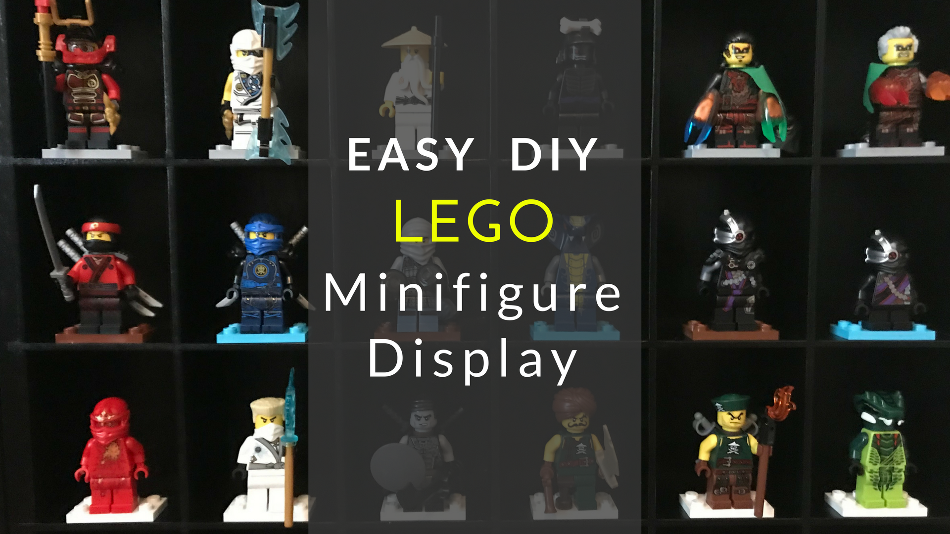 Easy DIY Lego Minifigure Display Case