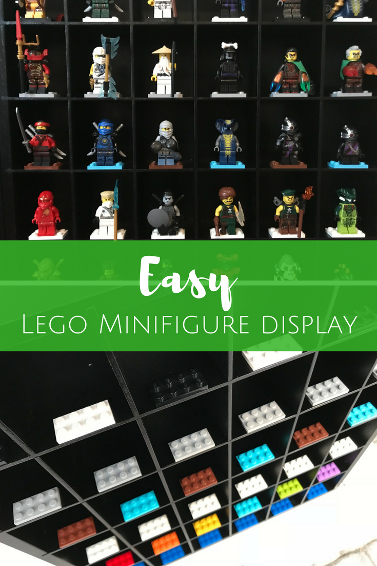 Make Your Own LEGO Minifigure Display Case