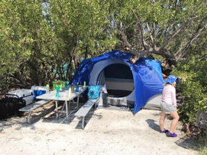 Camping at Dry Tortugas National Park near Fort Jefferson in the Florida Keys with Kids