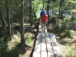 Jordan Pond Path Trail in Acadia National Park with Kids