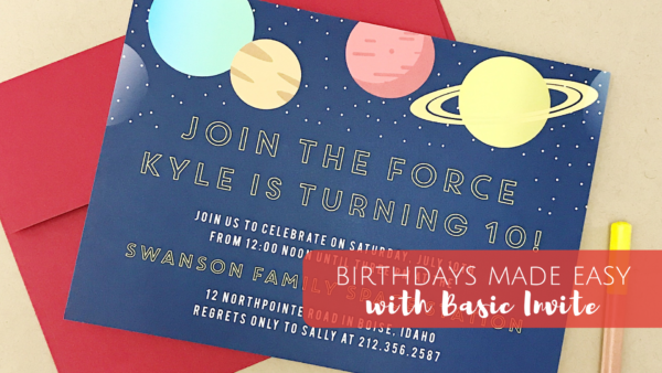 Birthdays made easy with Basic Invites