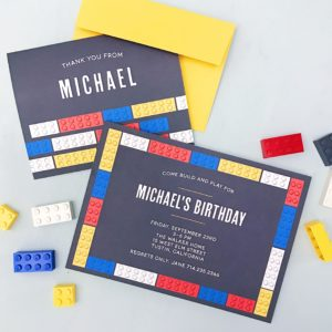 Lego Birthday Party Invite