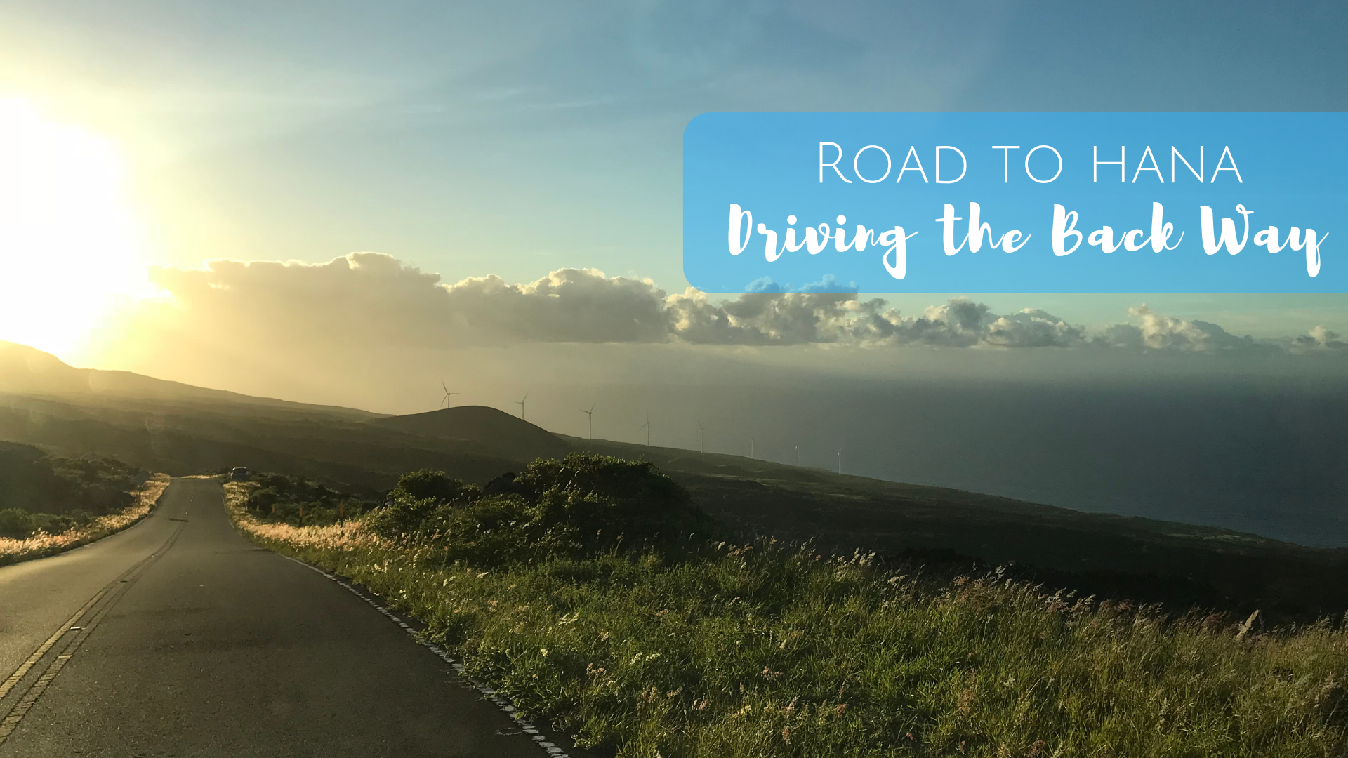 Driving the Road to Hana in Maui. Take the back way, the Piilani Highway.