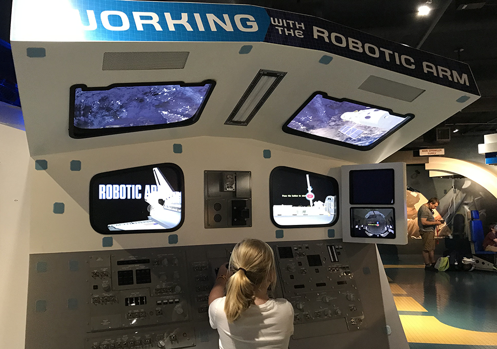 Interactive Technology at Kennedy Space Center with Kids in Orlando Florida