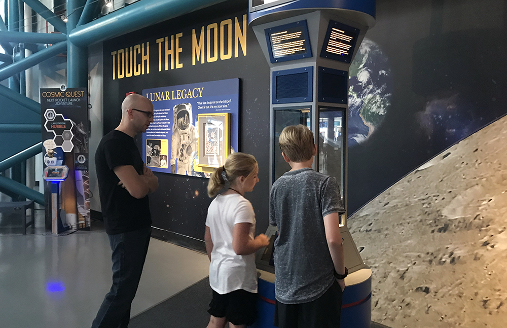 Touch a Moon Rock at Kennedy Space Center with Kids in Orlando Florida