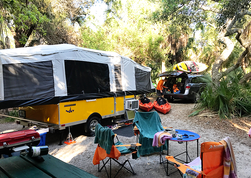 Fort De Soto Popup Camping in Florida