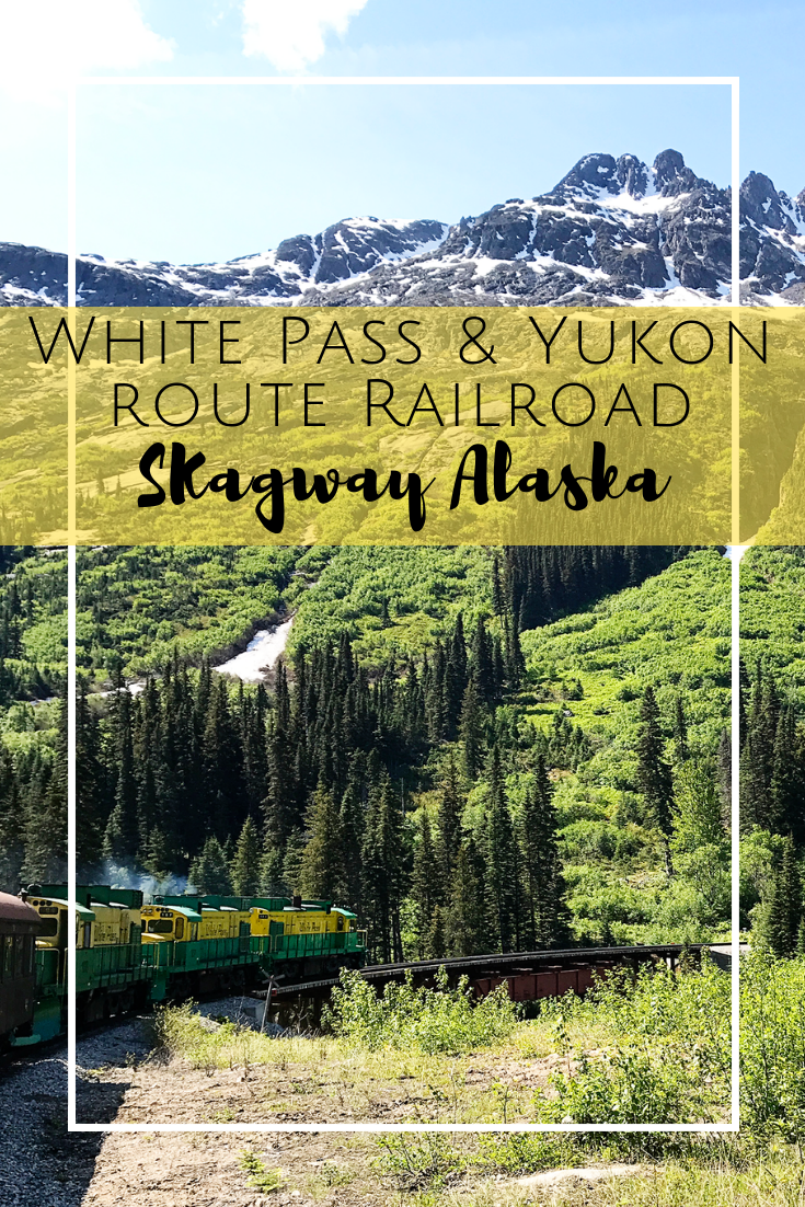 Riding the White Pass & Yukon Route Railroad in Skagway Alaska. A great excursion for your Alaskan cruise!