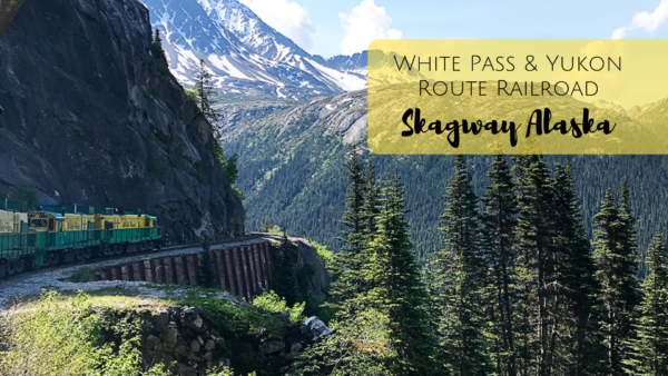 Riding the White Pass & Yukon Route Railroad in Skagway, Alaska. One of the best excursions for your Alaska cruise!