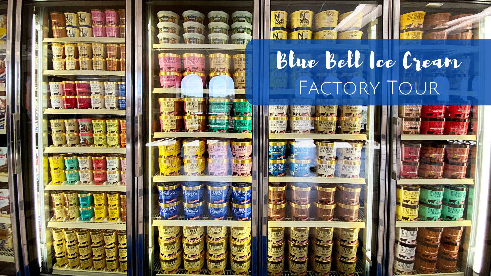 Blue Bell Ice Cream factory tour and tasting in Brenham, Texas