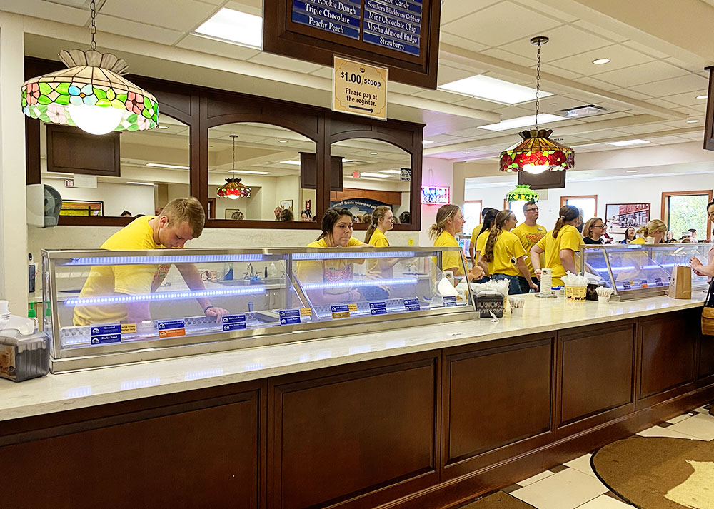 Blue Bell Ice Cream factory tour and tasting in Brenham, Texas!