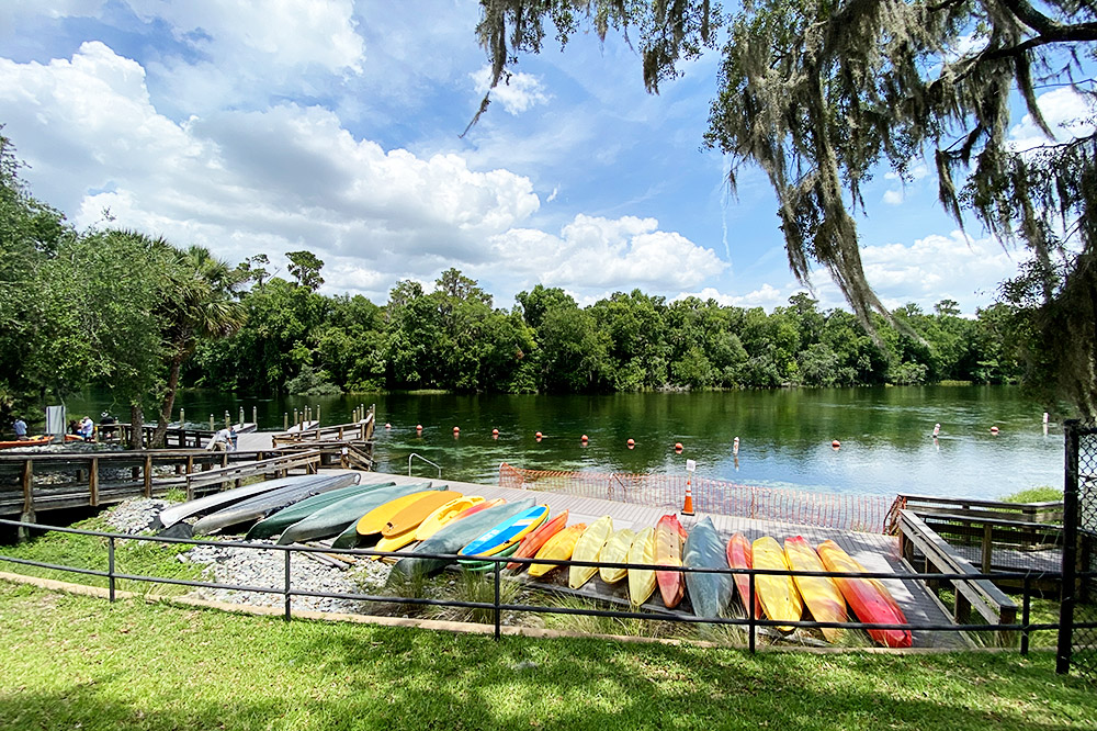 Kayaking Rainbow River in Dunnellon, Florida - KP Hole County Park