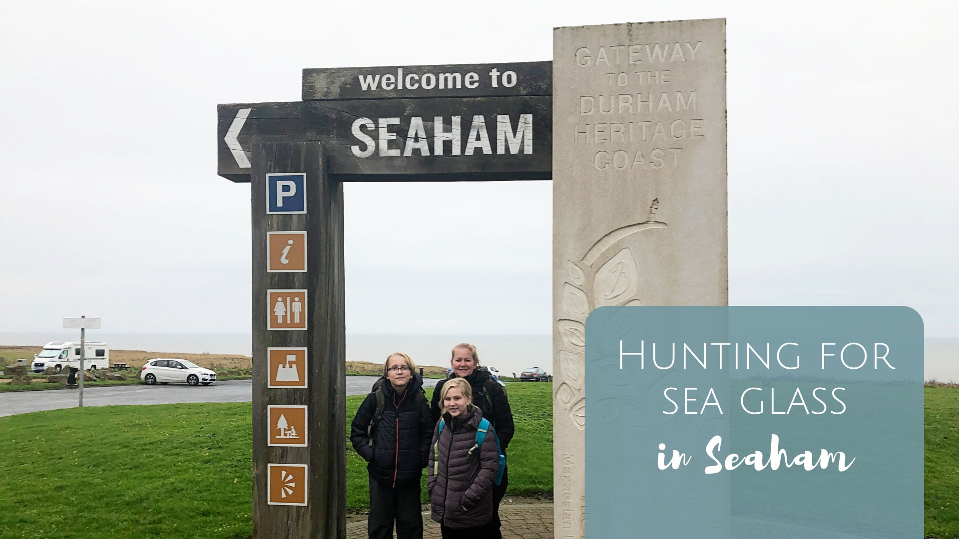 Hunting for Sea Glass in Seaham England