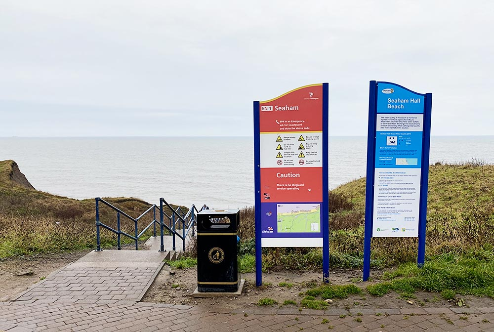 Where to hunt for glass in Seaham.